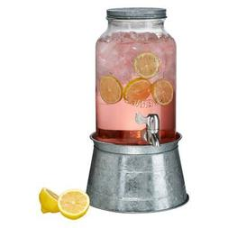 inc oasis galvanized beverage server 1 5