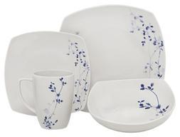 Melange Square 16-Piece Porcelain Dinnerware Set  | Service