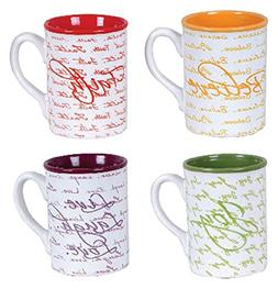 Gibson Home 92958.04RM Inspirational Words 16 Ounce 4 Pack M