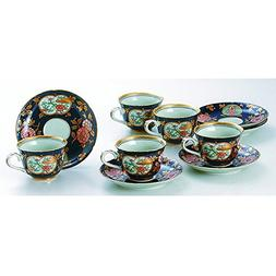 Japanese Porcelain Hasami ware gift. Set of 5 koimari kinsai
