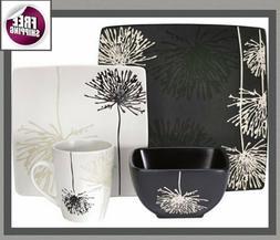 Japanese Style Set Dinnerware 16 Pc Dishes Plate Mug Vintage