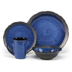 Jenna Blue Dinnerware Collection Stoneware 16Pc Set Jenna Bl