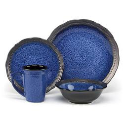 Jenna Blue Dinnerware Collection Stoneware 16Pc Set Jenna Bl