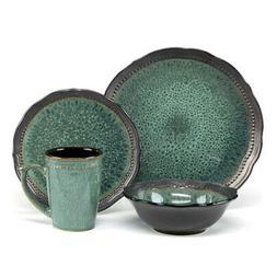 Jenna Green Dinnerware Collection Stoneware 16Pc Set Jenna G