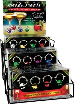 4 Pack Jingle Bell Wine Charm Case Pack 24 Home Kitchen Furn