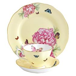 Royal Albert Joy 3-Piece Teacup, Saucer and Plate Set Design