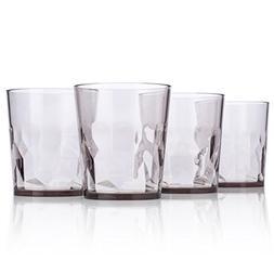 8 oz Premium Juice Glasses - Set of 4 - Unbreakable Tritan P