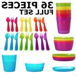 IKEA Kalas Child Dinnerware Set of 36 - Bowl Plate Cup Utens