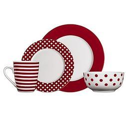 Pfaltzgraff Kenna 16-Piece Dinnerware Set in Red