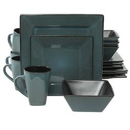 Gibson Elite Kiesling 16-Piece Dinnerware Set, Blue