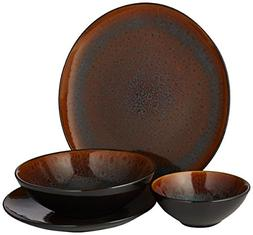 Gibson Elite Kioto 16-Piece Dinnerware Set - Brown