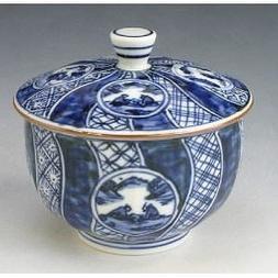 Kiyomizu-kyo yaki ware. Set of 5 yunomi teacups marumonshonz