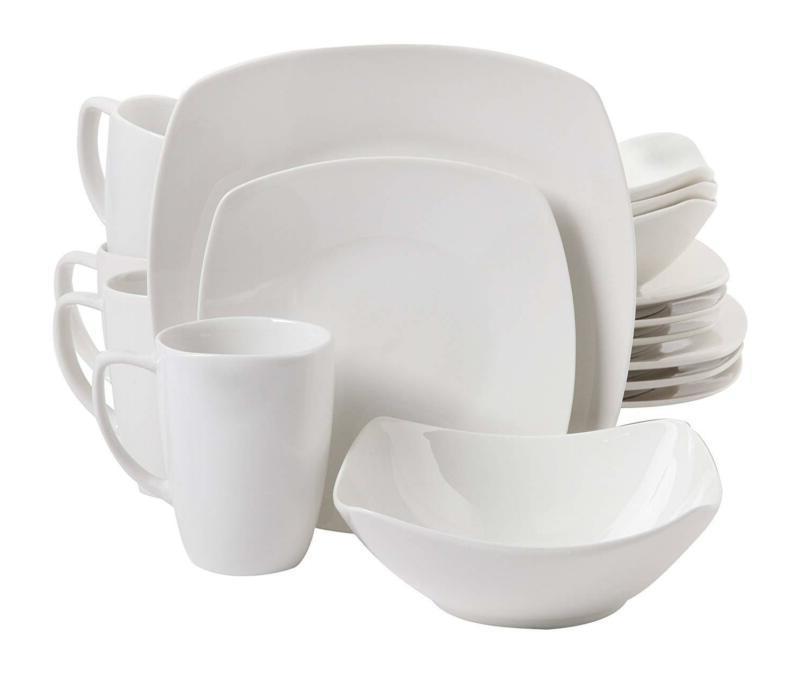 White Gibson Home 16 Piece Zen Buffetware Dinnerware Set