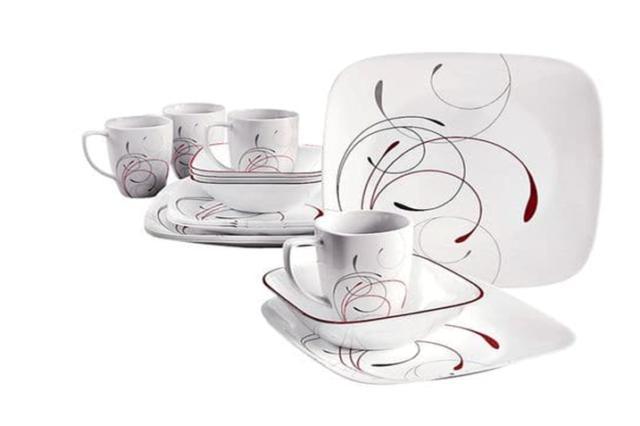1101529 square splendor 16 piece dinnerware set
