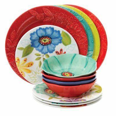 116500 12 melamine dinnerware set