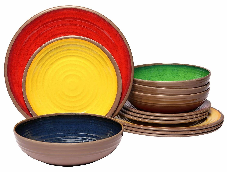Melange 12-Piece Dinnerware Set