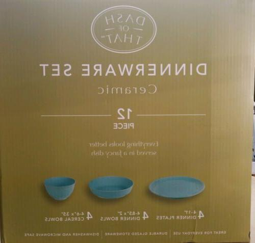 Dash Piece Ceramic Set Teal Blue