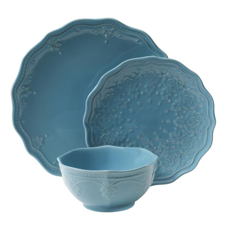 12-Piece Dinnerware Stoneware - Colors