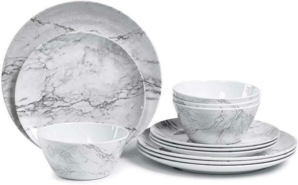 12 White Design Dishwasher Safe