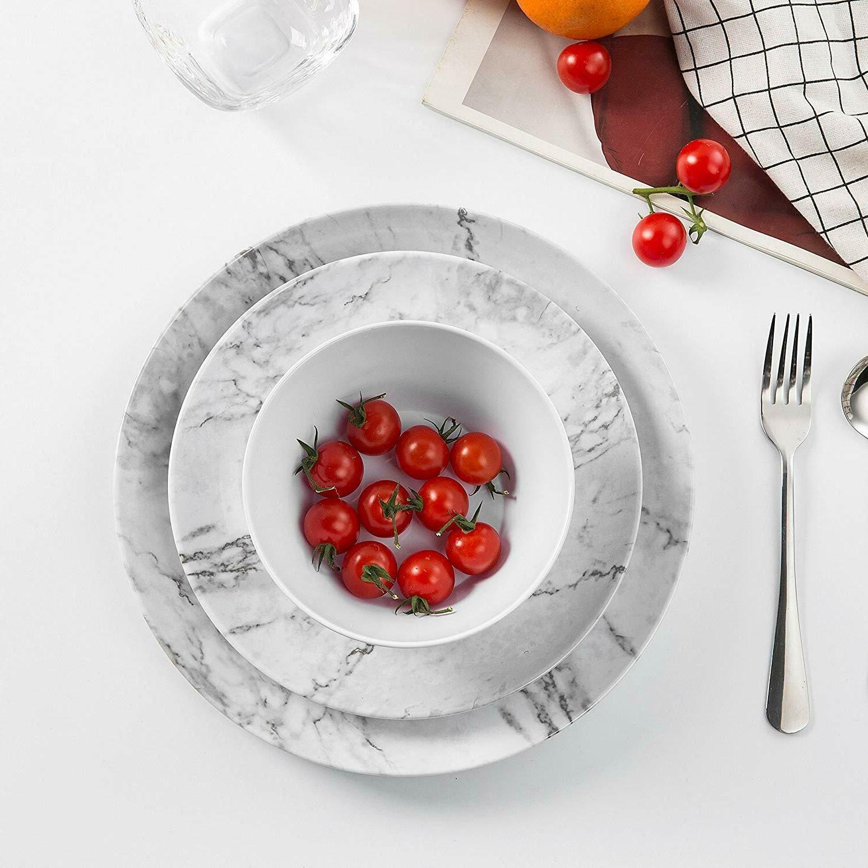 12 White Dishwasher Safe Lightweight