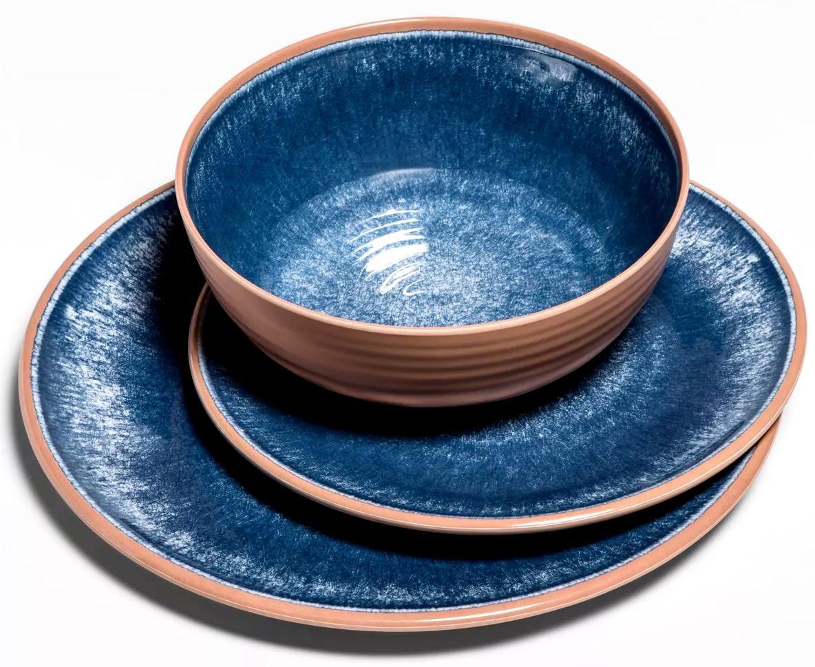 12 Melamine Set Blue For