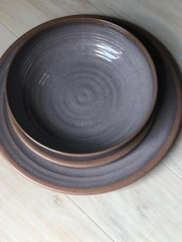 Melange 12-Piece Melamine Dinnerware Set    Shatter-Proof An