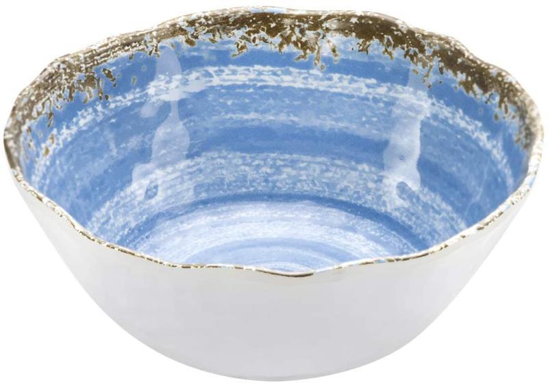 Nicole Melamine Dinnerware Rustic Blue