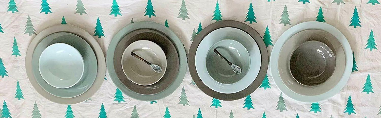 12 piece melamine dinnerware set service