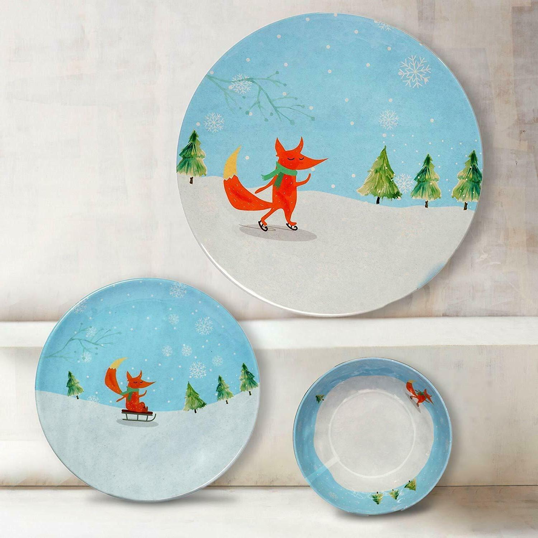 Melange 12-piece Fox Melamine Dinnerware FREE