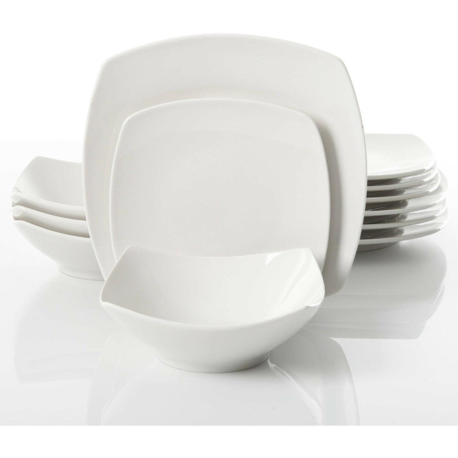 12-Piece Dinner Bowls Ceramic