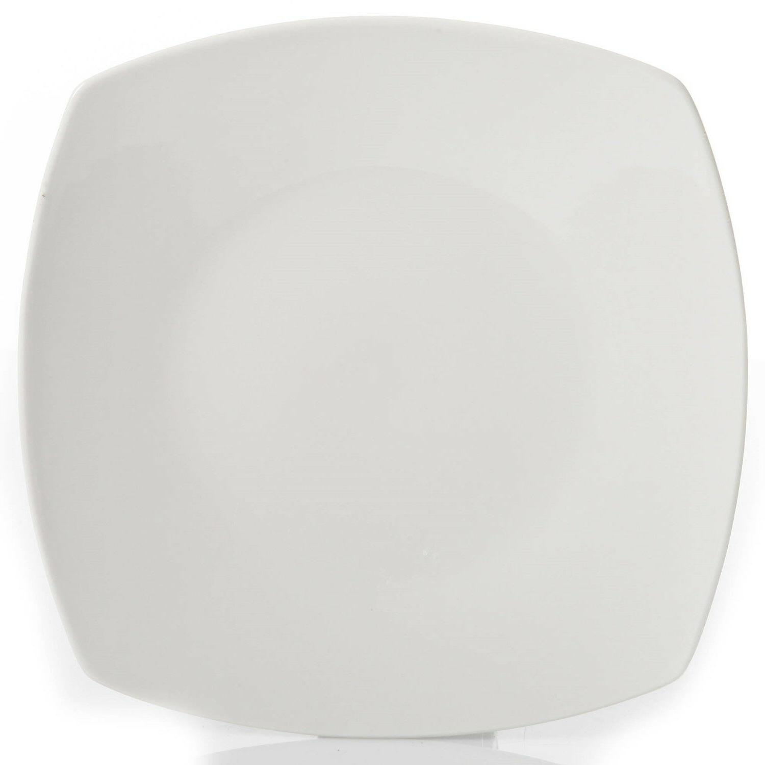 12-Piece Square Set Dinner Ceramic White