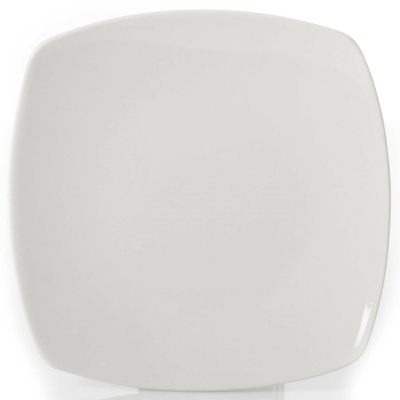 12-Piece Dinner Dessert Plates Bowls Ceramic White
