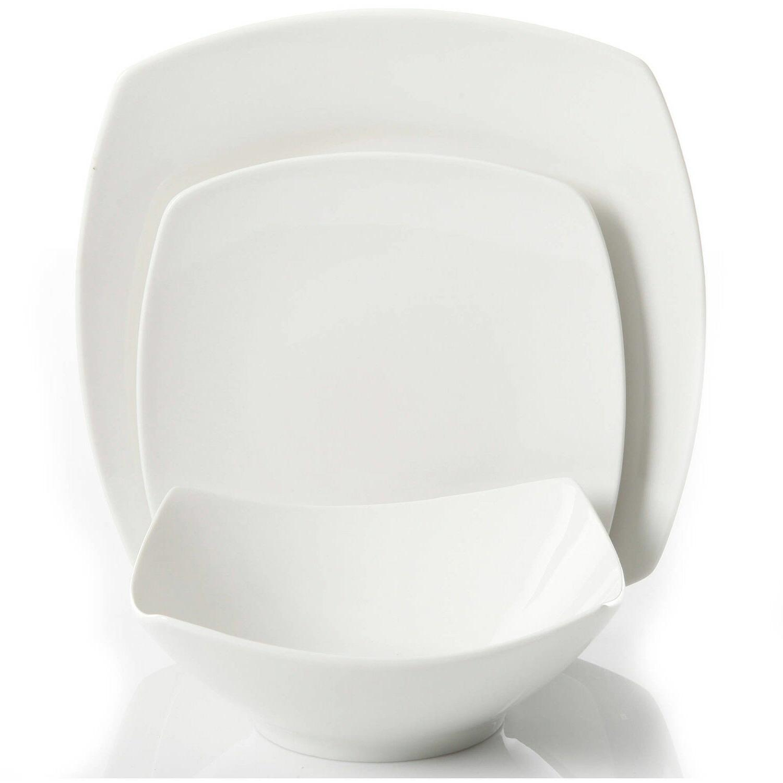 12-Piece Dinner Ceramic White