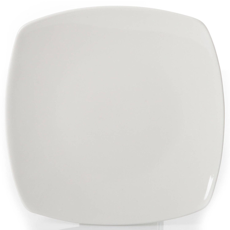 12-Piece Dinnerware Set Dinner Bowls Ceramic White