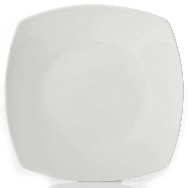 12-Piece Square Dinnerware Dinner Plates Ceramic