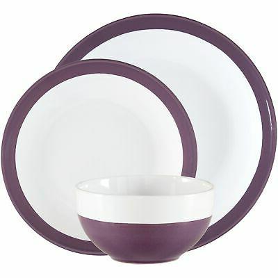 12 Pieces Round Ceramic Dinnerware Set Home Kitchen Stonewar
