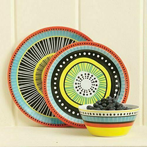 12Pc Plates Dishes Kitchen 4Set