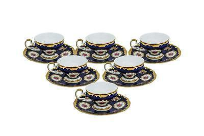 12pc miniature espresso coffee sets blue