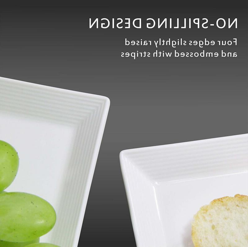 DOWAN 14.5-inch Porcelain Platters/Rectangular Plates - Packs,