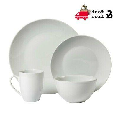 16 pc dinnerware sets round ceramic dining
