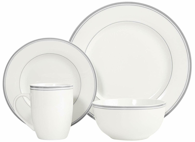 16-Piece Set Plates Soup Kitchen Dinner Pack