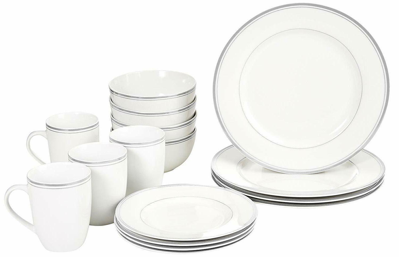 16-Piece Plates Dining Kitchen