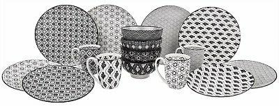 16-Piece Dinnerware Set of set Bowls Plates