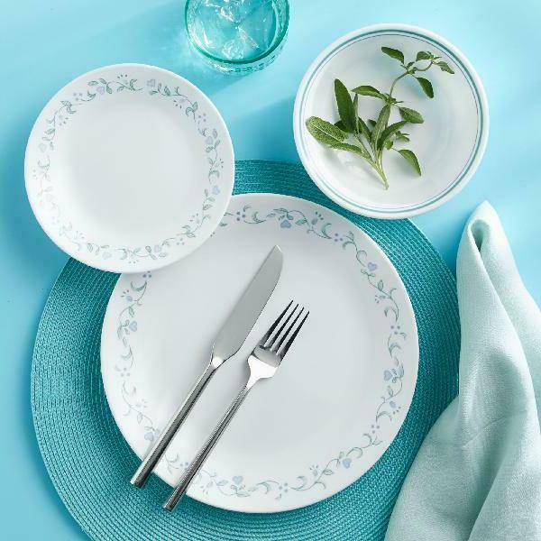 16 piece classic country cottage dinnerware set