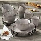 16 Piece Dinnerware Set, Gray Better Homes & Gardens Farma D