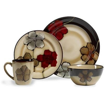 16 piece dinnerware set kitchen dinner plates