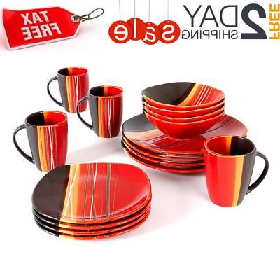 16 piece dinnerware set kitchen dinner serving