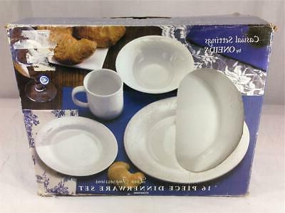 16 piece dinnerware set lace impressions dd191x16g