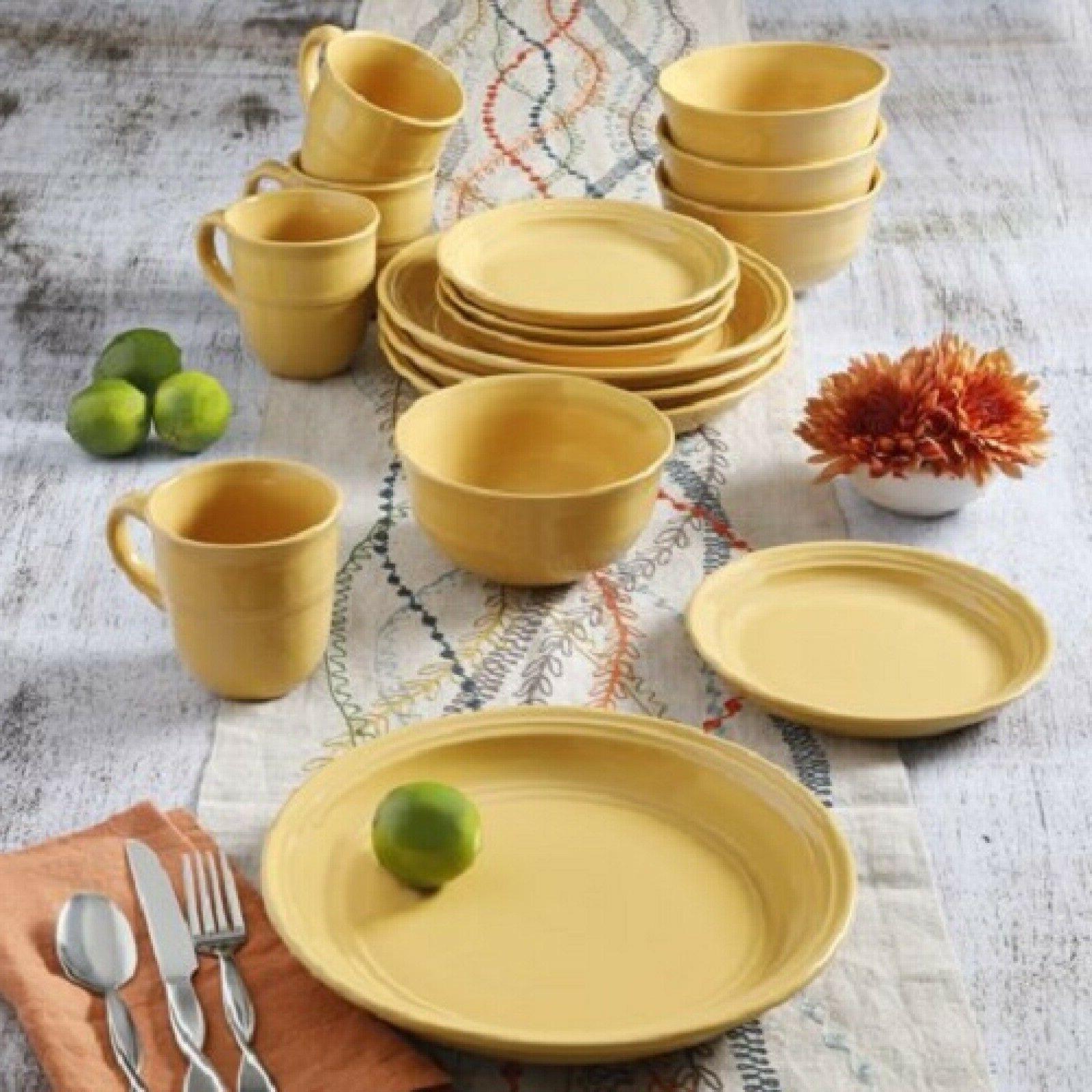 16 Piece Dinnerware Set Plates Bowls Mug Kitchen Dining Home