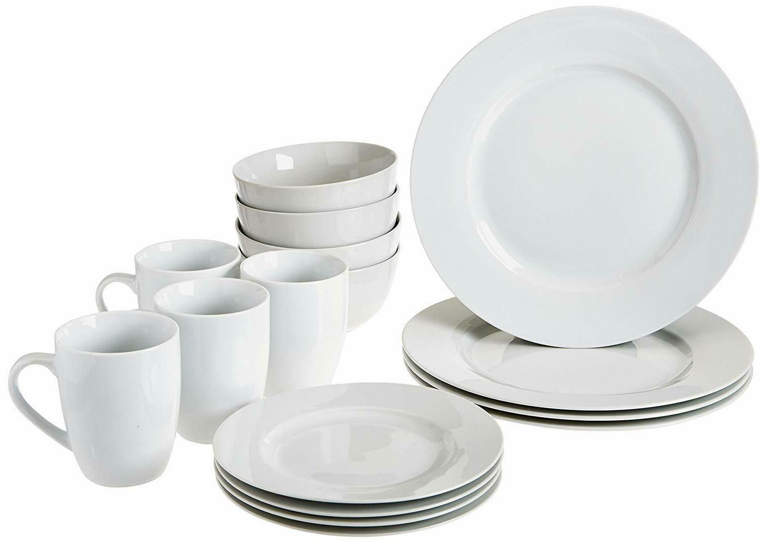 16 piece kitchen dinnerware set plates bowls